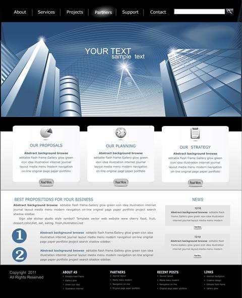 template per la realizzazione siti wordpress