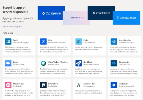 microsoft 365 - app di teams