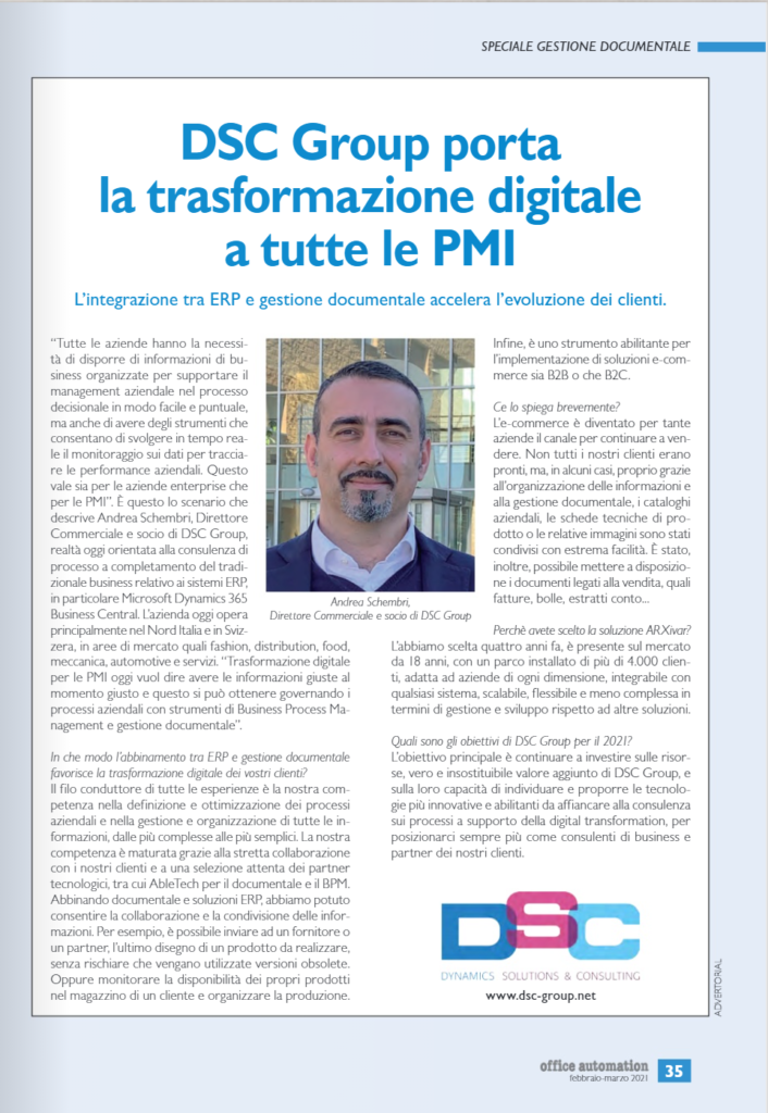 Intervista Andrea Schembri Office Automation